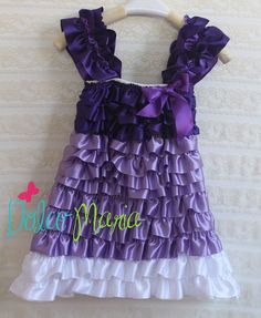 Sofia the First Inspired Ruffled Dress