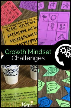 Growth mindset activities - Growth Mindset Escape Room Growth Mindset Activity for School Counseling – Growth mindset activities Growth Mindset Lessons, Growth Mindset For Kids, Growth Mindset Classroom, Growth Mindset Activities, Mindset Quotes, High School Counseling, School Counselor, School Classroom, Elementary Counseling