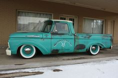 1962 FORD F100 SHOP TRUCK PATINA LOWERED A TRUE CLASSIC  A SHOW STOPPER SLAMMED, image 1