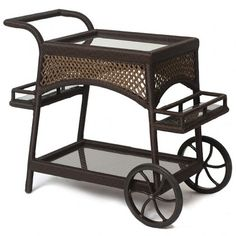 Serve your guests with this traditional serving cart.