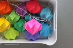 you always need a diamond . a dozen rainbow origami diamond ornaments for your party /wedding /holiday /home by mycrazyhands.com