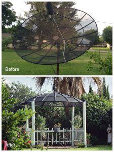 Satellite Dish to Gazebo!