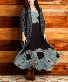 This Black & Teal Cloud Handkerchief Dress by Reborn Collection is perfect! #zulilyfinds