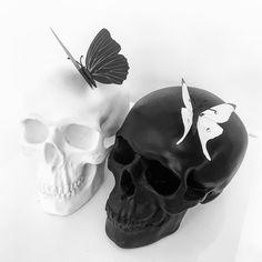 """649 Likes, 13 Comments - Haus of Skulls (@hausofskulls) on Instagram: """"Butterfly Skulls #butterfly #blackandwhite #black #white #custom #bespoke #handmade #skull…"""""""