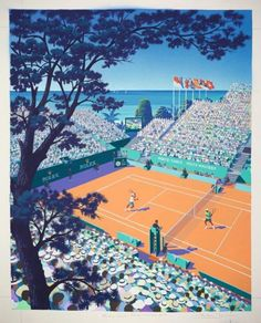 Andrew Davidson's new poster design for this year's Monte-Carlo Rolex Masters tennis tournament