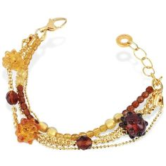 Antica Murrina Tiffany - Murano Glass Bead Chain Bracelet (550 HRK) found on Polyvore