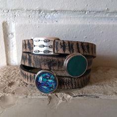 Bracelet cuir 2 chunks 01