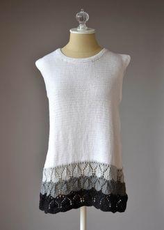 Free Pattern Friday - Graphite Tank knit in Fibra Natura Radiant Cotton