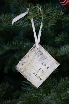 3 Distressed Beige Holiday Christmas Gift Tags by PaperandMallet