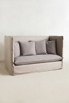 Boxy soft; grey; reading nook