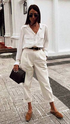 Best Workwear Combinations to Depend On If You Work At Home - Girlsinsights Mode Outfits, Stylish Outfits, Fall Outfits, Party Outfits, Looks Chic, Looks Style, Spring Outfit Women, Look Casual Chic, Smart Casual Outfit Summer