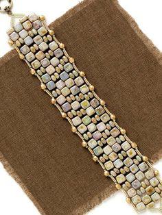 Cobblestone Path Bracelet; Shae Wilhite; Quick & Easy Beadwork, 2014 | InterweaveStore.com