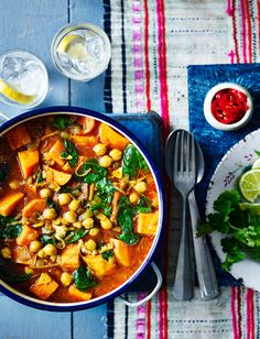 This Malaysian sweet potato curry recipe from Melissa Hemsley is very versatile: you can easily swap the sweet potato for butternut squash or carrots Curry Recipes, Veggie Recipes, Indian Food Recipes, Asian Recipes, Soup Recipes, Vegetarian Recipes, Healthy Recipes, Healthy Food, Lasagna Recipes