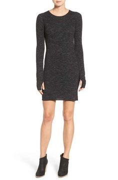 Current/Elliott 'The Melange' Wool & Linen Sweater Dress