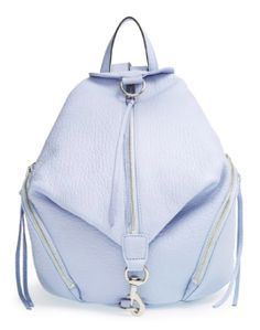 Obsessed with light blue for spring, this Rebecca Minkoff backpack is perfection!