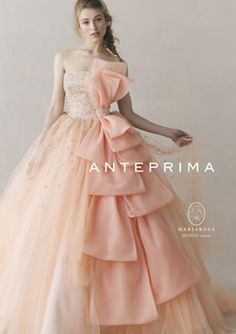ANTEPRIMA wedding アンテプリマウェディング Beautiful Evening Gowns, Beautiful Dresses, Evening Dresses, Kids Party Wear Dresses, Girls Dresses, Prom Dresses, Quince Dresses, Pink Gowns, Sweet Dress