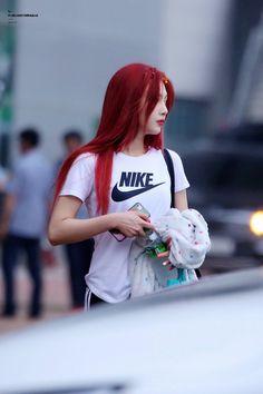 Velvet Red Hair, Red Velvet Joy, Red Velvet Irene, Seulgi, Extended Play, Red Hair Outfits, Joy Rv, Hair Color Blue, Velvet Fashion