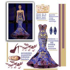 Fashion World by selangel on Polyvore featuring polyvore, fashion, style, Giuseppe Zanotti, Oscar de la Renta and Aurélie Bidermann