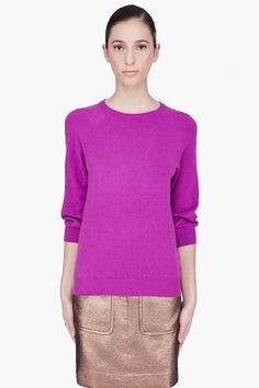 WOW. this sweater is great! MARC BY MARC JACOBS royal Fuchsia Imogen Knit Sweater