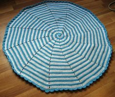 Free Crochet Spiral Baby Afghan Pattern