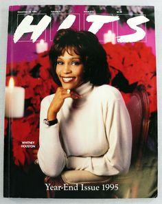 Hits Magazine DEC 1995 Whitney Houston Oasis Mariah Carey Beatles Deep Blue RARE 45 Records, Music Magazines, Whitney Houston, Cover Model, Mariah Carey, Deep Blue, The Beatles, Oasis, Beatles