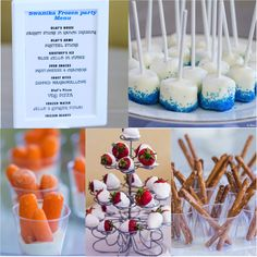 Party food at a Frozen girl birthday party! See more party ideas at CatchMyParty.com!