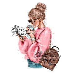 Fashion Images, Fashion Art, Girl Fashion, Fashion Drawings, Fashion Illustrations, Cartoon Girl Images, Cute Cartoon Girl, Cartoon Art, Png Transparent