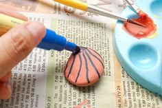 How to Paint a River Rock