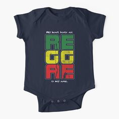 'Reggae Music Quote' Kids Clothes by EddieBalevo Laptop Cases, Phone Cases, Throw Blankets, Throw Pillows, Jah Rastafari, God Bless Us All, Lion Of Judah, Reggae Music, Wall Tapestries