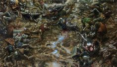 Donato Giancola - The Battle of Agincourt October 23, 1415(1386×800)