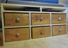 #Schubladenschrank aus alten #Weinkisten #Holz