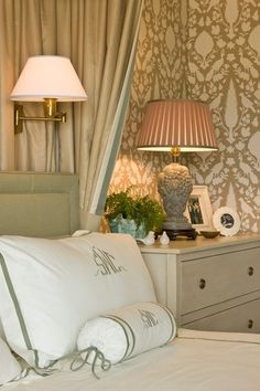 Love this Schumacher wall paper... wall paper for master bedroom!