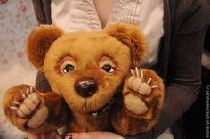 Купить медведь Хьюго - коричневый, тедди, тедди мишка, медведь, медведь тедди, медведь игрушка