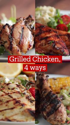 Baked Chicken Recipes, Grilled Chicken, Healthy Chicken, Oven Chicken, Chicken Thigh Recipes Oven, Comida Keto, Good Food, Yummy Food, Tasty