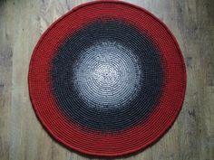 Crochet round rug 45'' 112 cm/Crochet by AnuszkaDesign on Etsy