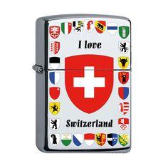 Zippo mit den verschiedenen Schweizer Kantonswappen Switzerland, Lighter, Phone Cases, Retro, My Love, Collection, The Moon, Atelier, Swiss Guard