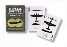 Airplane spotter playing cards - fun idea for gift baskets