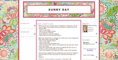 Sunny Day template by Templates by Tenille