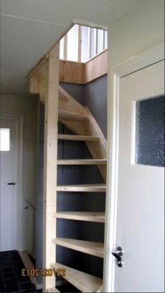 Loft Staircase, Space Saving Staircase, Staircase Design, Loft Room, Bedroom Loft, Attic Loft, Attic Ladder, Loft Ladders, Garage Stairs