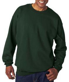 hanes adult ultimate cotton(R) crew neck fleece - deep forest (2xl)