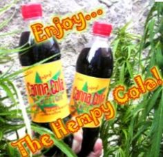 """""""Canna Cola""""....a marijuana flavored soft drink with 35 to 65 milligrams of THC soon to be available in California."""