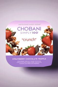 Make snack time even more interesting with Chobani Simply 100 Crunch! Discover delicious flavors like Strawberry Chocolate Truffle, Blueberry Cookie Crumble and Mango Cone Crisp that will delight your taste buds and health! Each Chobani Simply 100 has no artificial sweeteners, less sugar and is an excellent source of protein and fiber so you can feel great throughout the day. Snag your Chobani Simply 100 Crunch today!