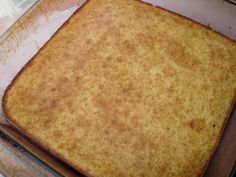 This is an easy, traditional, slightly sweet Southern cornbread. I often make a batch to use in my homemade stuffing/dressing casserole. It freezes well after cooking.