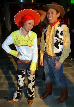 Jessie and Woody- cute.  sc 1 st  Pinterest & DIY Jessie and Woody Costumes | Halloween Costumes | Pinterest ...