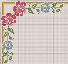 "Delicado Cantinho: Gráficos Ponto Cruz ""Flores"" [   ""Crossstitch"",   ""Redirecting"" ] # # #Cross #Stic, # #Hobby #Stitch, # #Stitch #Borders, # #Cross #Stitches, # #Ozturk #Ayten, # #Günsel #Kul, # #Dantel #Karma, # #María #Lu, # #Mantel #Punto"