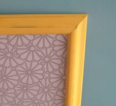 Rustic Yellow Framed Bulletin Board Black and White Pin Board Kitchen Memo Board Office Cork Board READY to SHIP- 24in x 30in on Etsy, $82.45 Kitchen Memo Board, Yellow Bathrooms, Bulletin Board, Old Houses, Cork, Playroom, Kitchen Decor, Shabby Chic, Homes