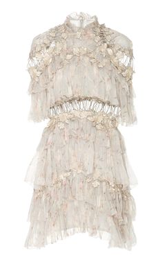 Tiered Printed Silk-Chiffon Mini Dress by ZIMMERMANN Now Available on Moda Operandi