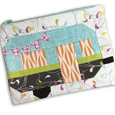 Clamper-Pouch by Shannon Young, using the collection FLOW by Zen Chic