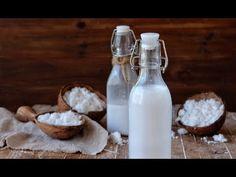 Cómo hacer leche de coco casera | LECHE VEGETAL | Delicious Martha - YouTube Relleno, Glass Of Milk, Smoothies, Cricut, Projects, Diy, Food, Youtube, Cashew Milk