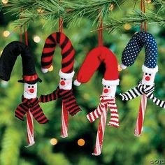 One Dozen Snowman Candy Cane Cover Ornaments Christmas Candy Crafts, Candy Cane Crafts, Diy Christmas Ornaments, Holiday Crafts, Christmas Holidays, Christmas Ideas, Crochet Christmas, Snowman Ornaments, Winter Holiday